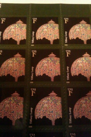 Sheet of 20 one cent stamps