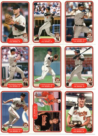 (12) 2001 Fleer Cal Ripken Jr. Career Highlights Cards