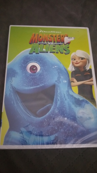 Brand New DVD Movie; Monsters vs Aliens  *(Bonus $5 Best Buy Gift Card TOO with GIN)* Free Shipping