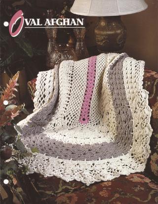 Free Afghan Crochet Pattern Oval Afghan Annies Attic Afghan