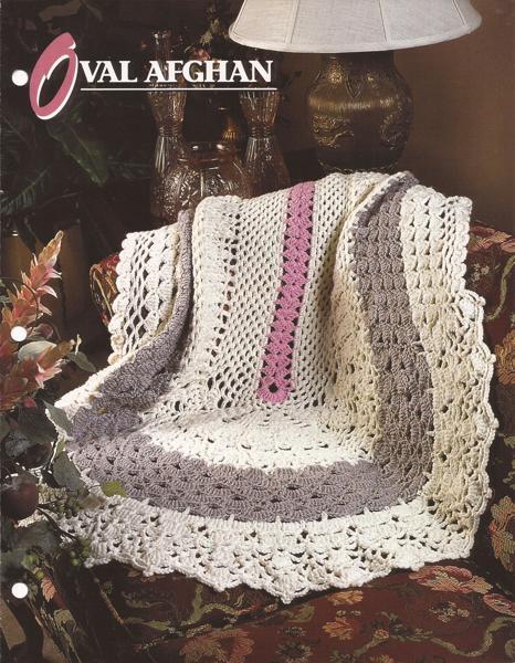 Free Afghan Crochet Pattern Oval Afghan Annies Attic