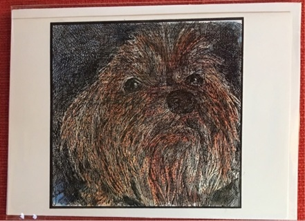 "SILKIE TERRIER - 5 x 7"" art card by artist Nina Struthers - GIN ONLY"
