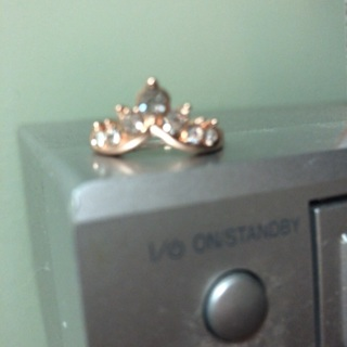 Rose Gold Color Ring Size six. #02