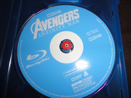 Avengers: Infinity War Blu Ray Disc BR MARVEL Superhero #1
