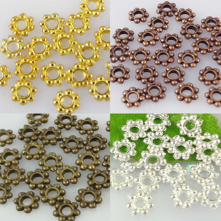 100PCs Metal Small Snowflake Loose Charms Spacer Beads DIY Jewelry Crafts