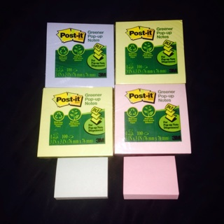 4 Post it notepads! Bonus 2 small notepads