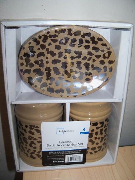 Leopard Bathroom Accessories Home