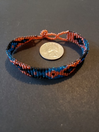 """Indian Style Beaded Bracelet - approx. 7"""""""