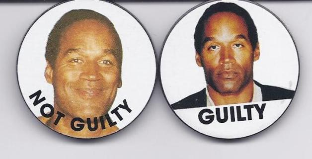 OJ Simpson Guilty or Not Guilty Pog