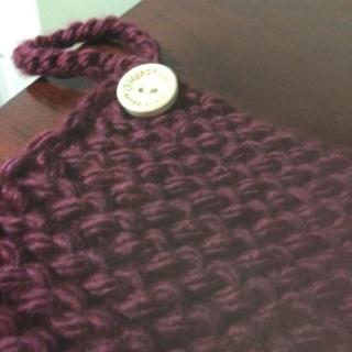 Holiday item. Crocheted pot-holder.