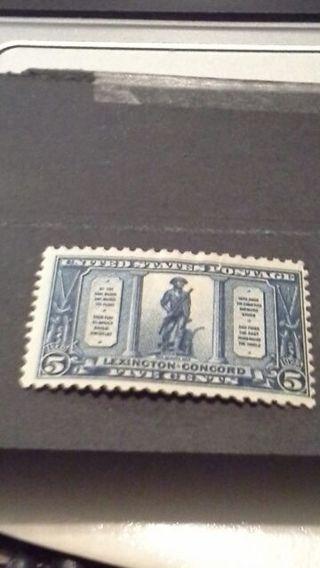 1925-#619-5 CENT LEXINGTON CONCORD-MINT,H,FINE