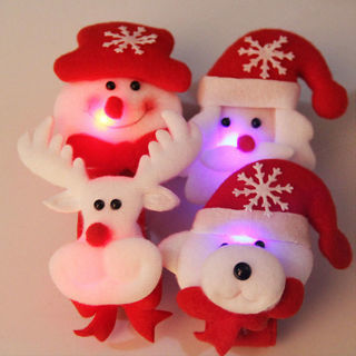 Santa Claus LED Light Bracelet Wrist Band Christmas Jewelry Xmas Gift Party