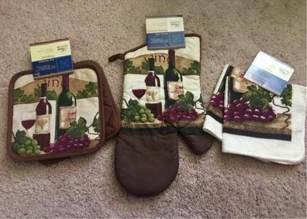Wine towel set