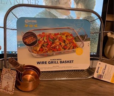 Wire BBQ grill basket Topper from Corona shop GIN BONUS