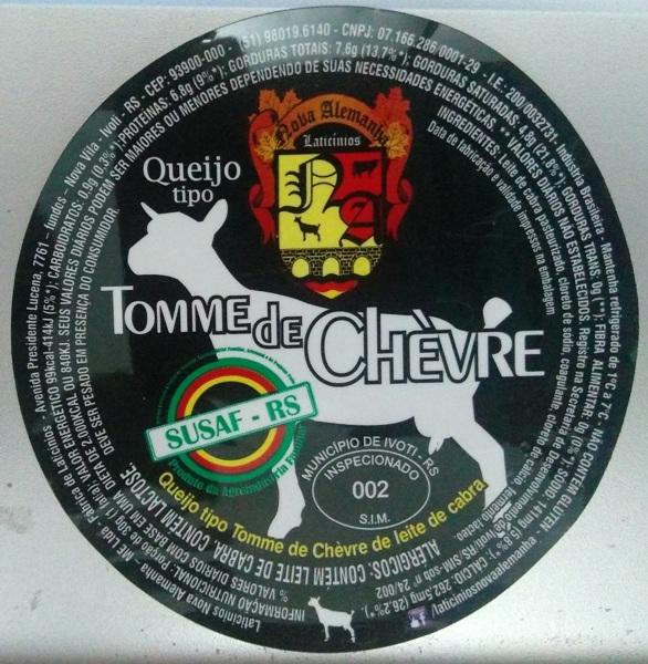Free: QUEIJO TOMME DE CHÈVRE Label