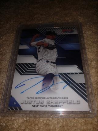 2017 Bowman's best baseball Justus Sheffield autograph New York Yankees