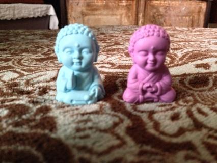 2 Pocket Buddhas (Wisdom:purple and Harmony: blue) *Free Ship*