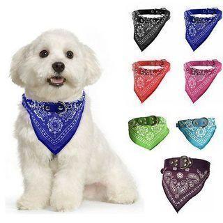 Adjustable Pet Dog Puppy Cat Neck Scarf Fashion Bandana Collar Neckerchief Scarf
