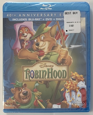 Disney Robin Hood 40th Anniversary Edition Blu-ray + DVD + Digital Combo Movie - New Sealed!
