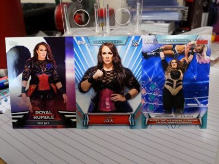 2018 &19 Topps WWE Women's Division Nia Jax cards