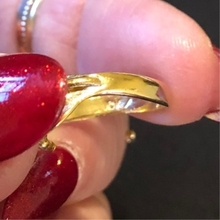 10kt Gold and Diamond Tulip Ring