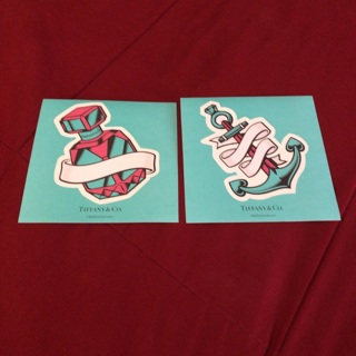"""Official Tiffany & Co. 4.5"""" Stickers - One Set of Two"""