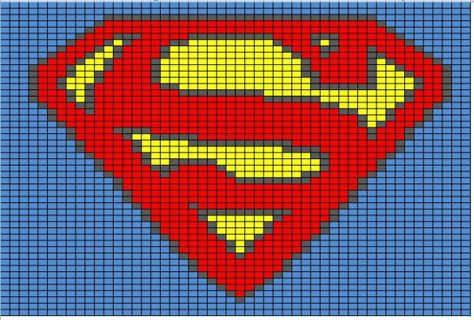 Free Superman Symbol Graph Crochet Pattern Crochet Listia