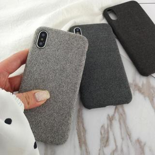 For iPhone XS Max XR X 6s 7 8 Plus Warm Fabric Soft Shockproof Matte Cover Case