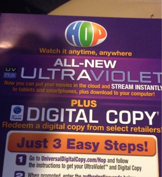 Free: iTunes/ultraviolet Digital Download Code For The Movie Hop