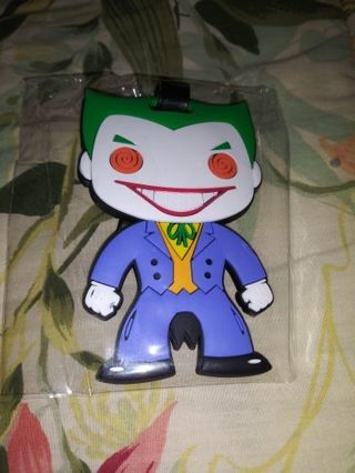 DC THE JOKER LUGGAGE TAG FIGURE...NEW & NEVER USED...SMOKE FREE HOME...FREE SHIPPING...