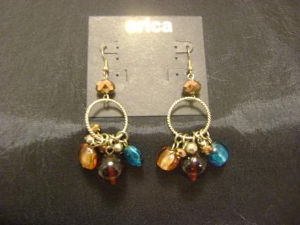 Erica Dangle Earrings French Hook