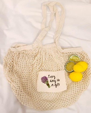 CROCHET NETTED FRUIT BAG 11 X 23.5 INCHES BRAND NEW WITHOUT TAGS