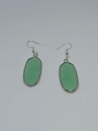 Wrap Green Agate Oval Earrings