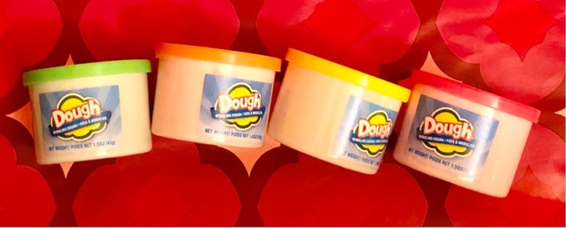 BN (4) 1.5 oz. Containers of Play Dough!! 4 Vibrant Colors. Orange, Green, Pink & YL!