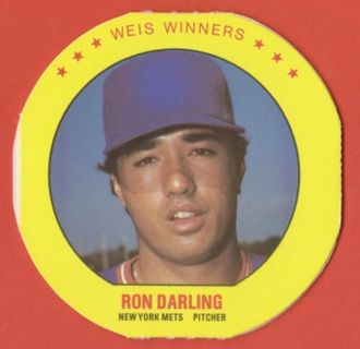 Ron Darling - 1987 Weis Winners disc - NY Mets star pitcher - MINT