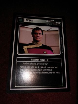 Star trek CCG - Military Privilege