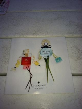 Paper fragrance sample Kate Spade