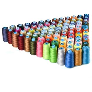 30 Spools Mixed Colors 100% Polyester Sewing Quilting Threads