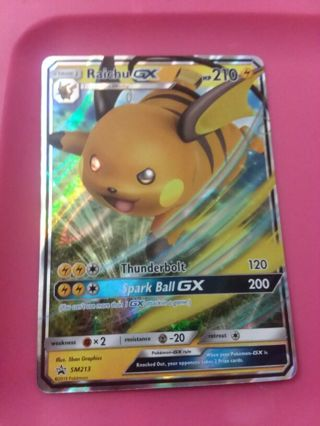 Raichu GX Promo Ultra Rare Pokemon Card Mint
