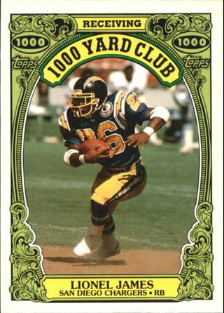 1986 Topps 1000 Yard Club #24 Lionel James