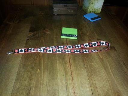 Poker or Card Playing Themed Lanyard