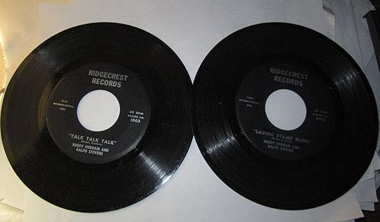 TALK TALK TALK, SAVING STAMP BLUES BY BUDDY DURHAM AND RALPH STEVENS 45 RPM RECORD