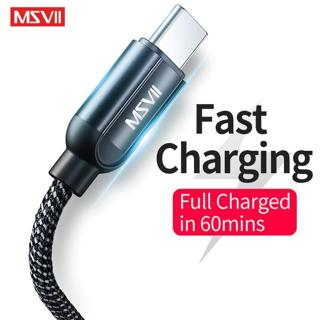 MSVII USB Mobile Phone Cable Type-c USB C Fast Charging Cable for Samsung Type C USB Charger for X
