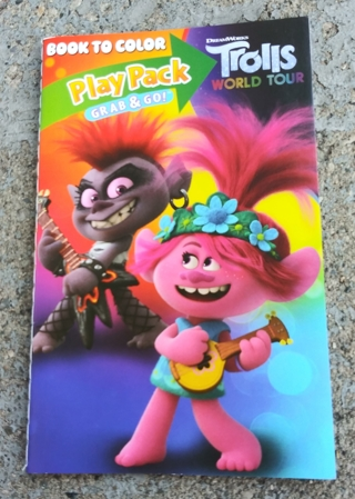 TROLLS SMALL COLORING BOOK WITH STICKERS USE YOUR OWN CRAYONS LOT 1