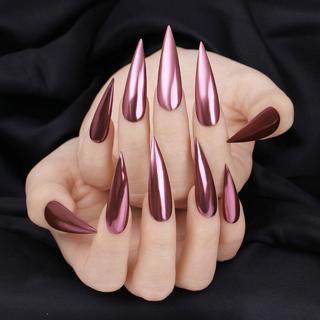 0.1G Born Pretty Mirror Nails Glitter Rose Gold Nail Art Chrome Pigment Powder