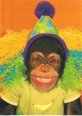 Free Monkey Clown Birthday Card No Envelope Birthday Listia