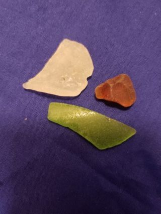 Real Sea Glass From Virginia! Green brown frosted nautical decor
