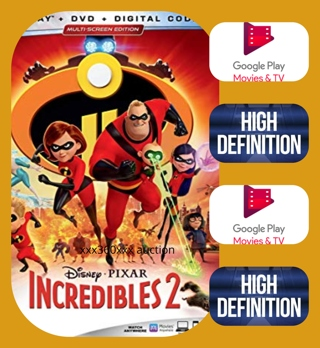 Incredibles 2  HD GOOGLE PLAY ( PORTS IF ACCOUNTS ARE LINKED)