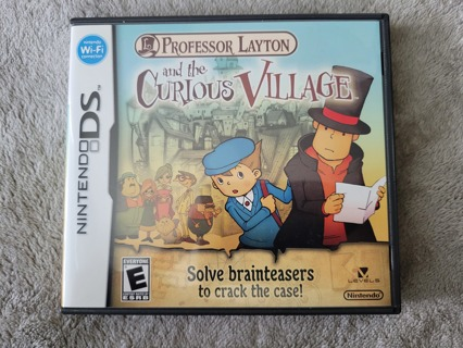 2008 Professor Layton and The Curious Village Complete Nintendo DS Game