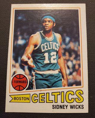 Vintage 1977 Sidney Wicks Boston Celtics Basketball Card #52